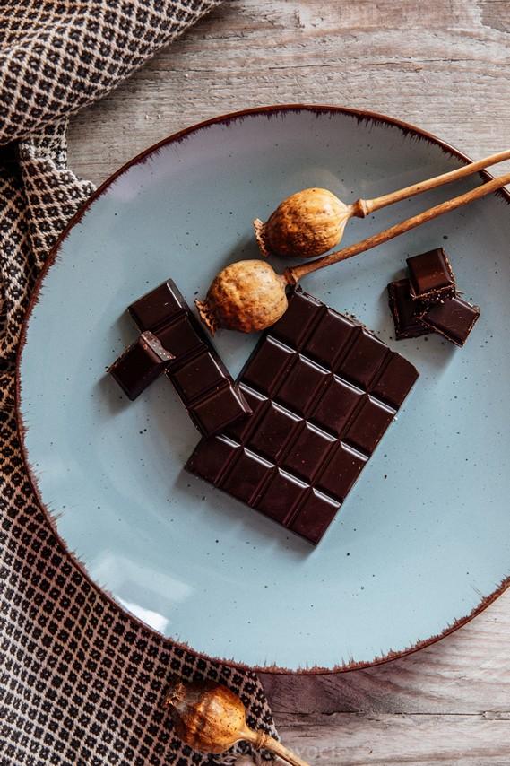Čokoláda - Horká s bielym makom 100 g